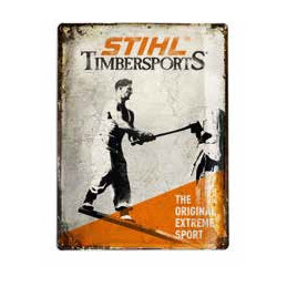 STS History sign, 30 x 40 cm portrait format, four bore holes for attaching to the wall stihl megavert