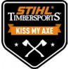 "Sticker ""Kiss My Axe"",, stihl megavert"